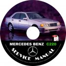 1994 Mercedes Benz C220 Factory Service Repair Shop Manual on CD Fix Rebuilt 94 Workshop Guide