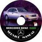 1996 Mercedes Benz C220 Factory Service Repair Shop Manual on CD Fix Rebuilt 96 Workshop Guide