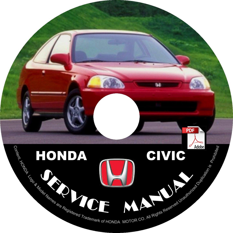 1993 Honda Civic Service Repair Shop Manual on CD Fix Repair Rebuilt 93 Workshop Guide
