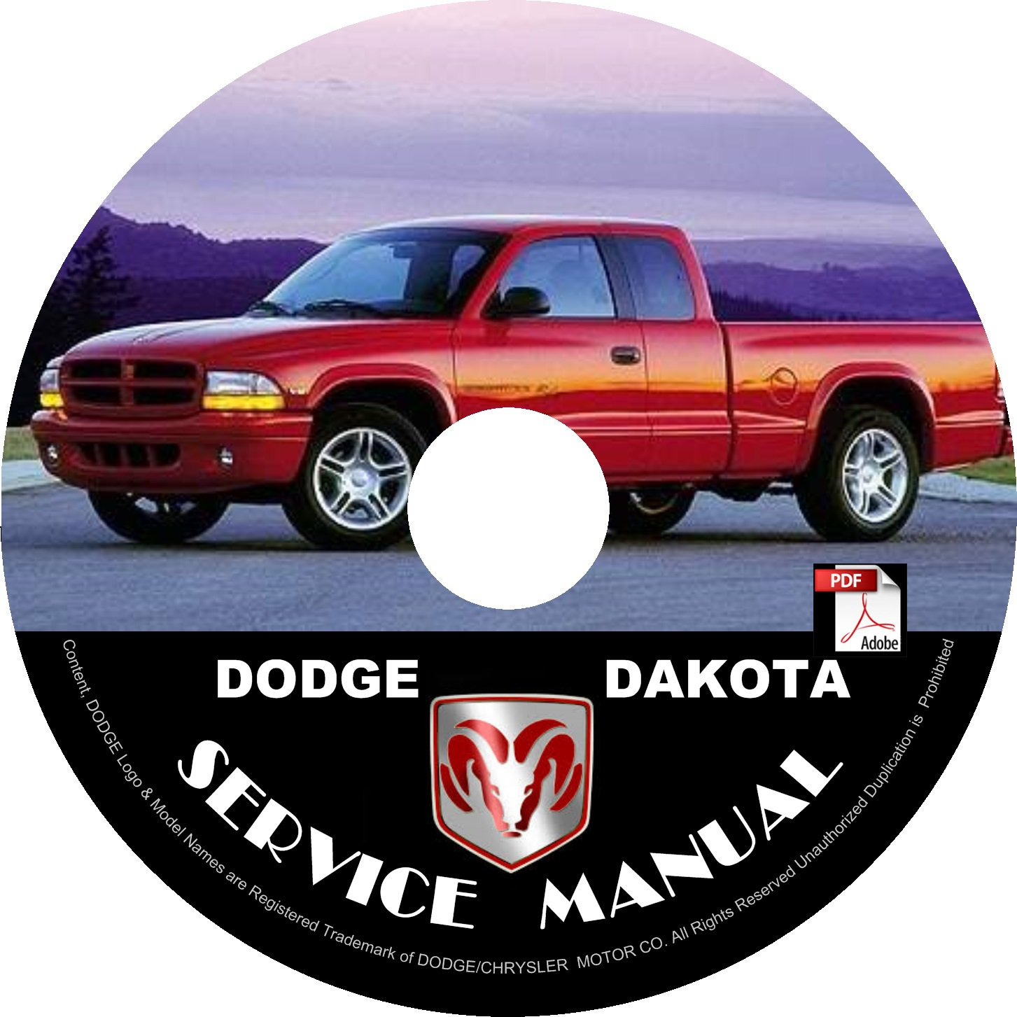 Dodge Dakota 2000 Remanufactured Complete: 2000 Dodge Dakota Factory Service Repair Shop Manual On CD