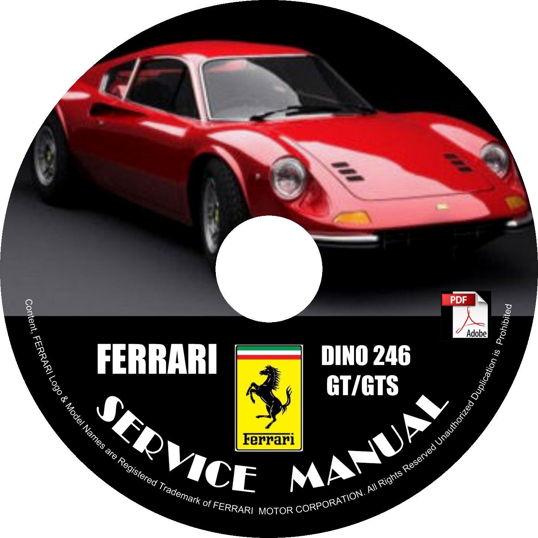 1976 Ferrari Dino 246GT 246GTS Factory Service Repair Shop Manual on CD Fix Rebuilt