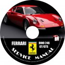 1976 Ferrari Dino 246GT 246GTS Factory Service Repair Shop Manual on CD Fix Rebuilt