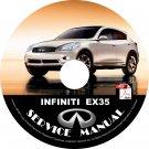 2008 Infiniti EX35 Factory OEM Service Repair Shop Manual on CD