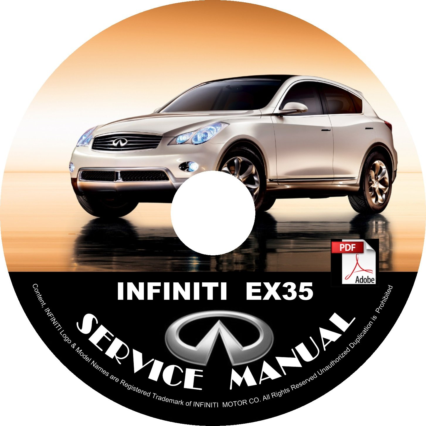 2009 09 Infiniti EX35 Factory Service Repair Shop Manual on CD