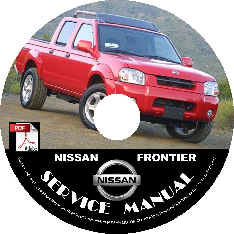 2001 Nissan Frontier Service Repair Shop Manual on CD Fix Rebuild '01