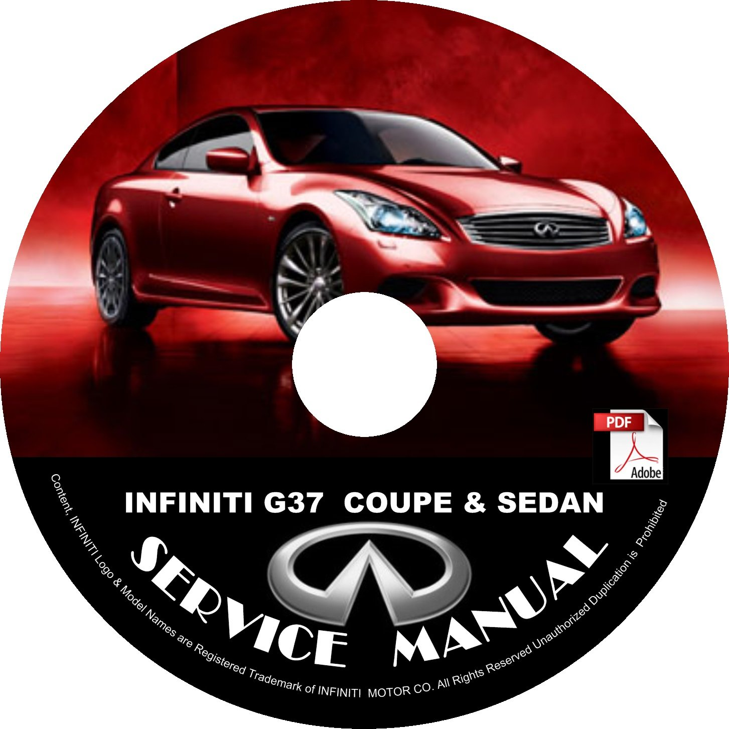 2008 Infiniti G37 Coupe & Sedan Service Repair Shop Manual on CD