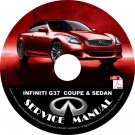 2013 Infiniti G37 Coupe & Sedan Service Repair Shop Manual on CD