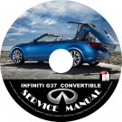 2013 Infiniti G37 Convertible Service Repair Shop Manual on CD