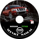 2008 Nissan Titan Factory Repair Service Shop Manual on CD