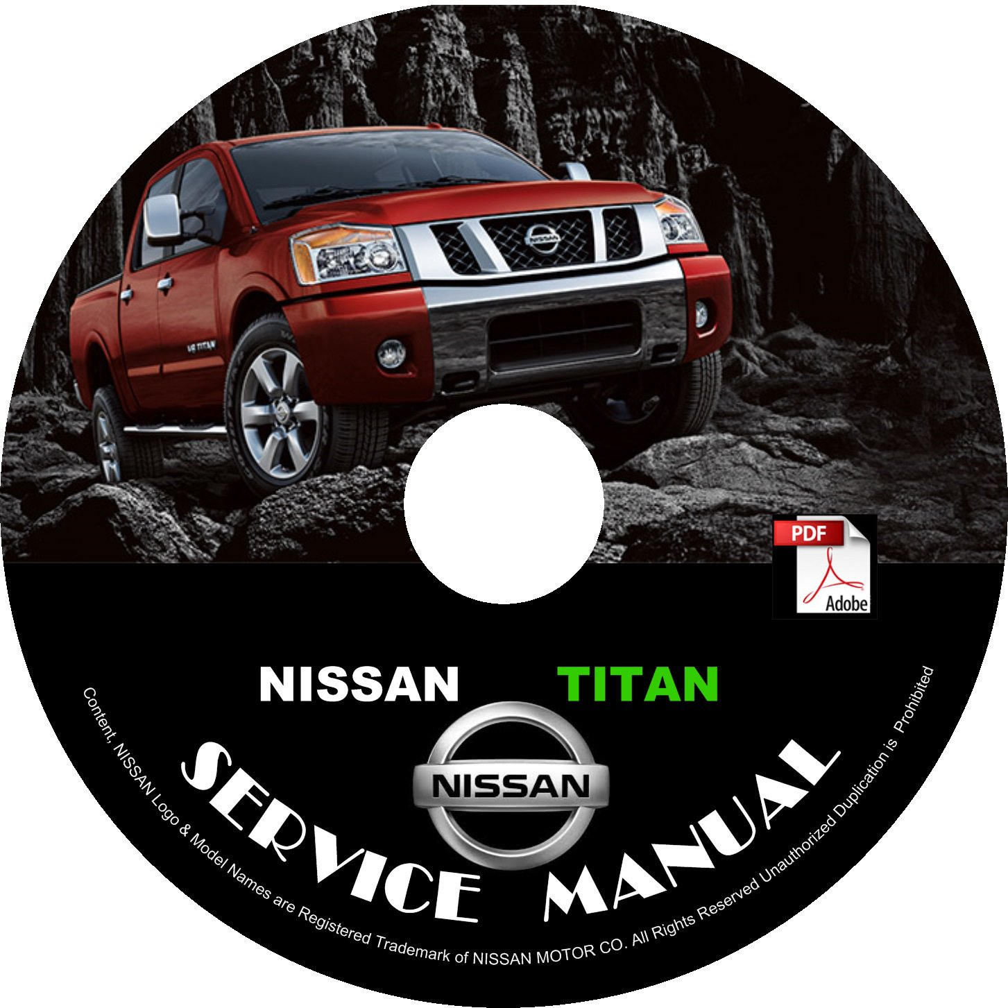 2010 Nissan Titan Factory Repair Service Shop Manual on CD