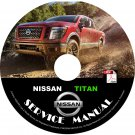 2016 Nissan Titan Factory Repair Service Shop Manual on CD