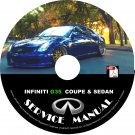 2005 Infiniti G35 Coupe & Sedan Factory Service Repair Shop Manual on CD 05 Workshop
