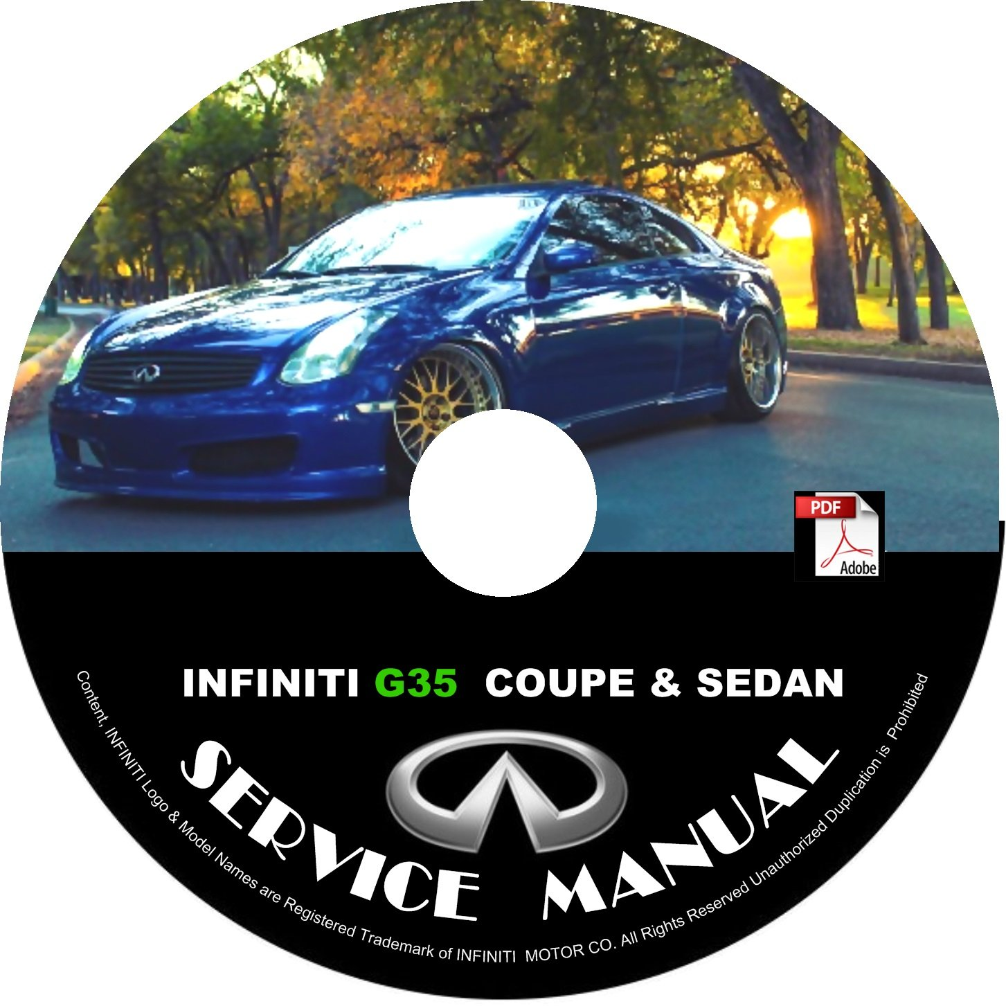 2006 Infiniti G35 Coupe & Sedan Factory Service Repair Shop Manual on CD 06 Workshop
