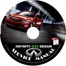 2008 08 Infiniti G35 Sedan Service Repair Shop Manual on CD Fix Repair Rebuild 08 Workshop