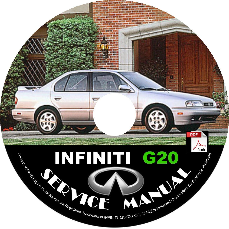 1993 Infiniti G20 Factory Service Repair Shop Manual on CD Fix Repair Rebuild 93 Workshop