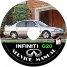 1993 Infiniti G20 Factory Service Repair Shop Manual on CD Fix Repair Rebuild 93 Workshop