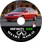 2001 Infiniti G20 Factory Service Repair Shop Manual on CD Fix Repair Rebuild 01 Workshop
