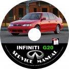 2003 Infiniti G20 Factory Service Repair Shop Manual on CD Fix Repair Rebuild 03 Workshop