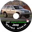 2001 Jeep Grand Cherokee Factory Service Repair Shop Manual on CD Fix Repair Rebuilt '01 Workshop