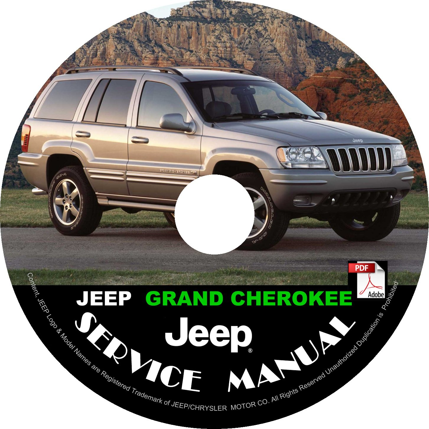 2002 Jeep Grand Cherokee Factory Service Repair Shop Manual on CD Fix Repair Rebuilt '02 Workshop