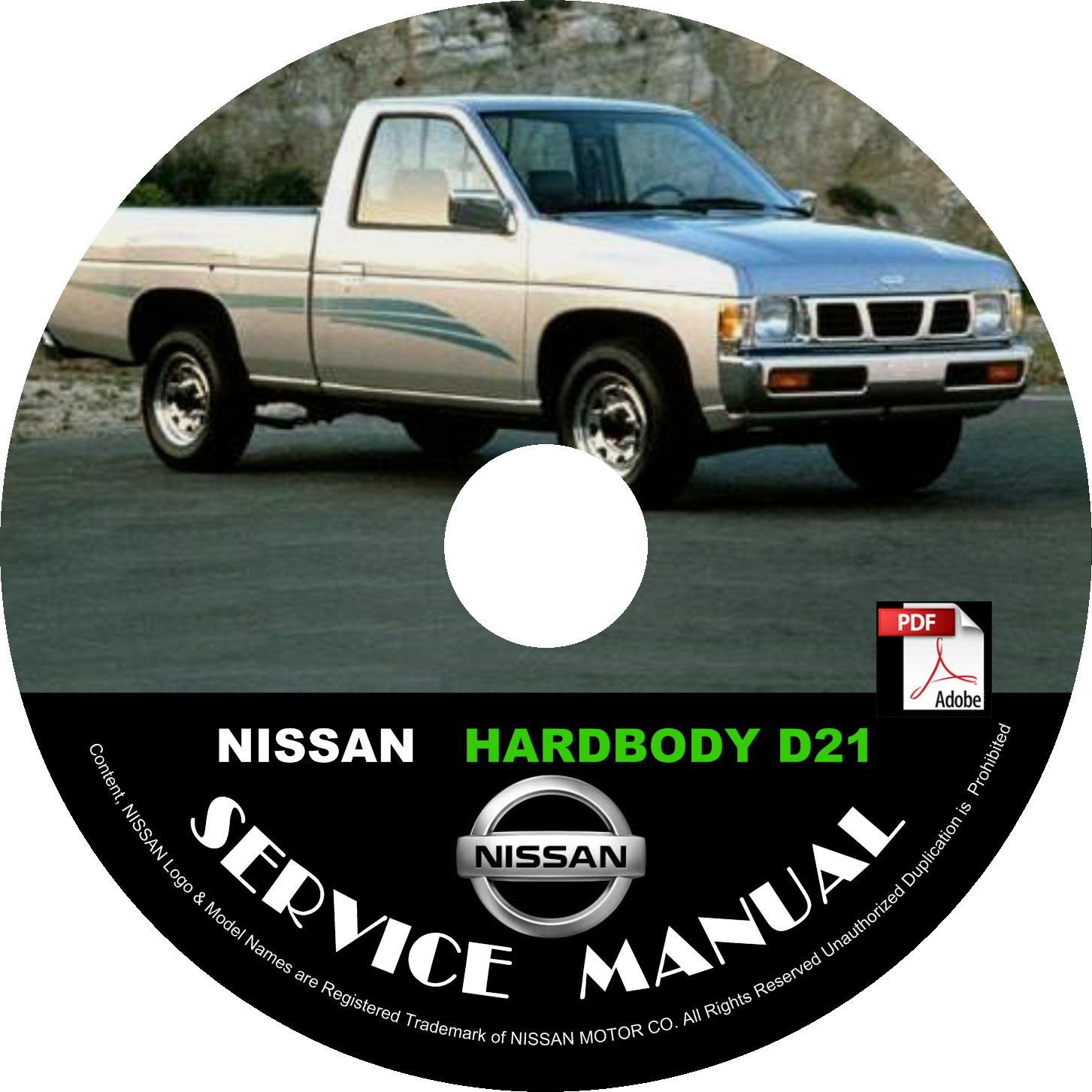 1990 Nissan Hardbody Pickup Service Repair Shop Manual on CD Fix Repair Rebuild '90 Workshop