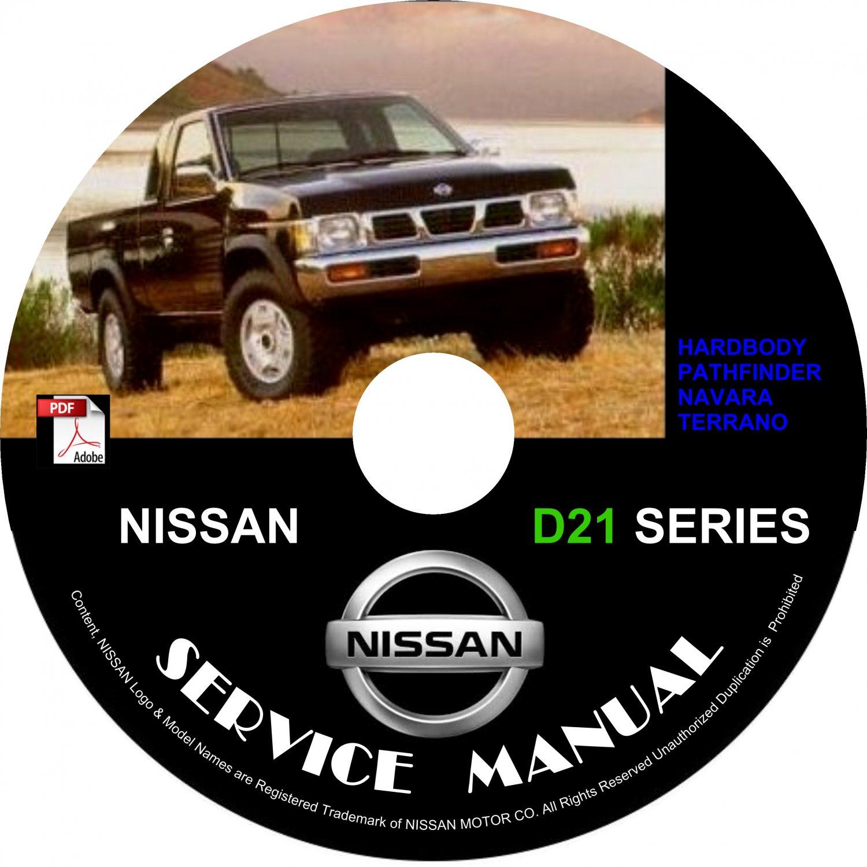 1992 Nissan Hardbody D21 Navara Pathfinder Terrano Service Repair Shop Manual on CD Fix Rebuild