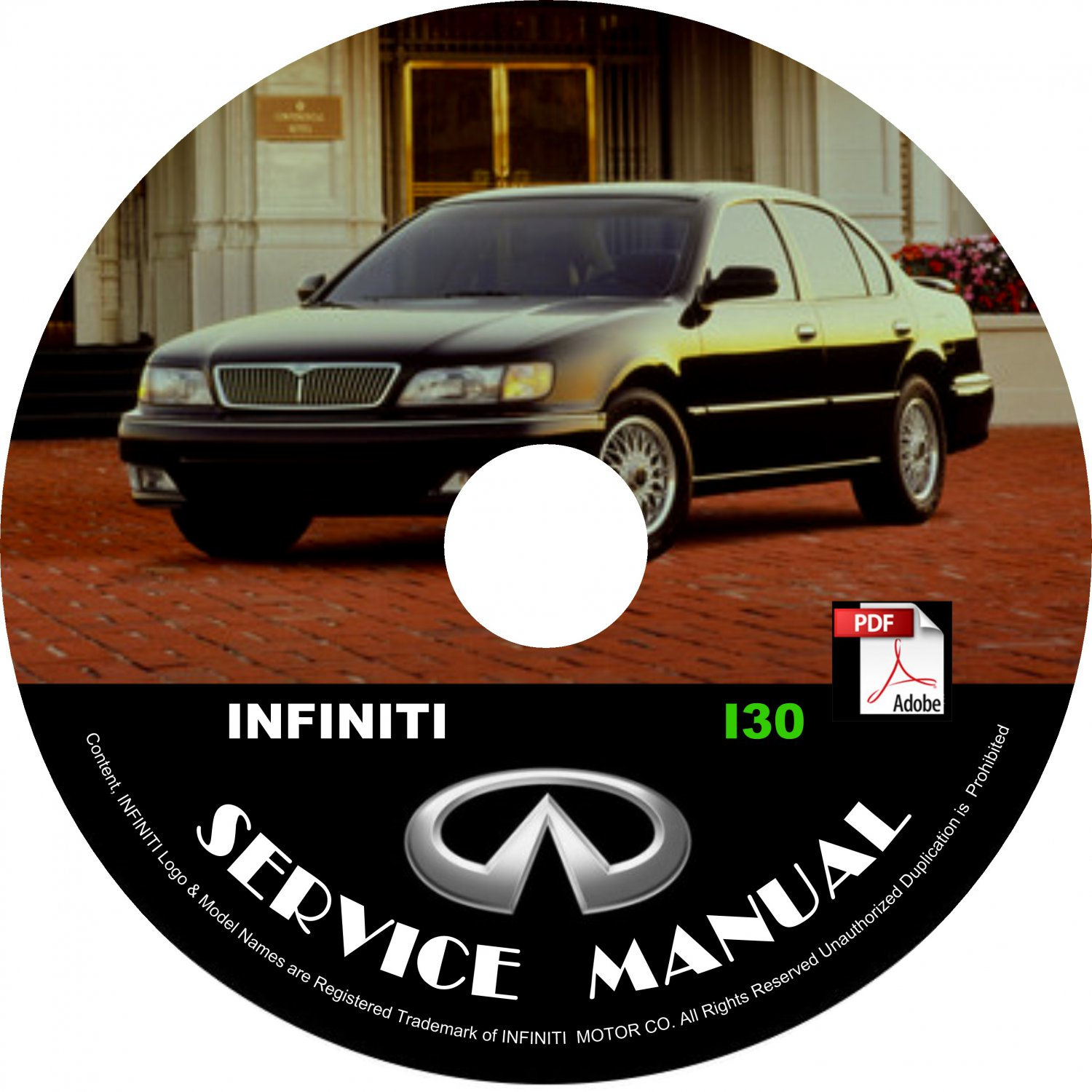 1996 96 Infiniti i30 Factory OEM Service Repair Shop Manual on CD Fix Repair Rebuild '96 Workshop
