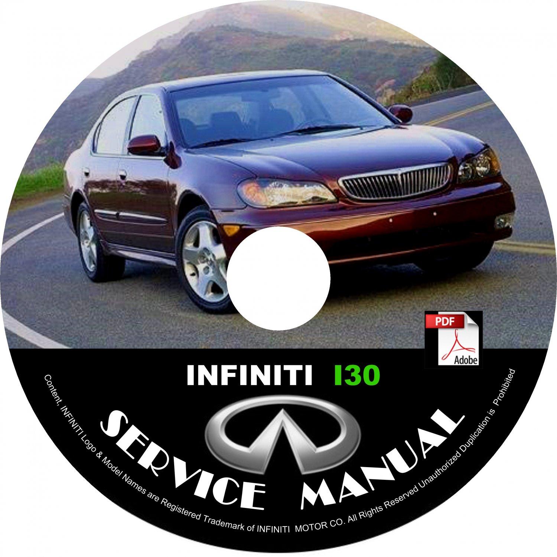 2000 00 Infiniti I30 Factory OEM Service Repair Shop Manual on CD Fix Repair Rebuild '00 Workshop