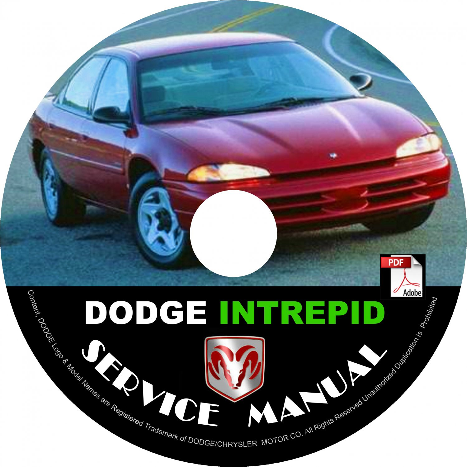 1993 Dodge Intrepid Factory Service Repair Shop Manual on CD Fix Repair Rebuilt 93 Workshop Guide