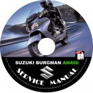 2006 Suzuki Burgman 400 AN400 Factory Service Repair Shop Manual on CD Fix Rebuilt Workshop Guide