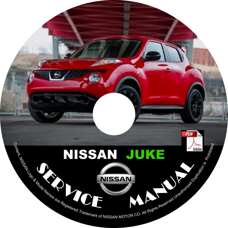 2013 Nissan Juke Service Repair Shop Manual on CD Fix Repair Rebuild '13 Workshop Guide