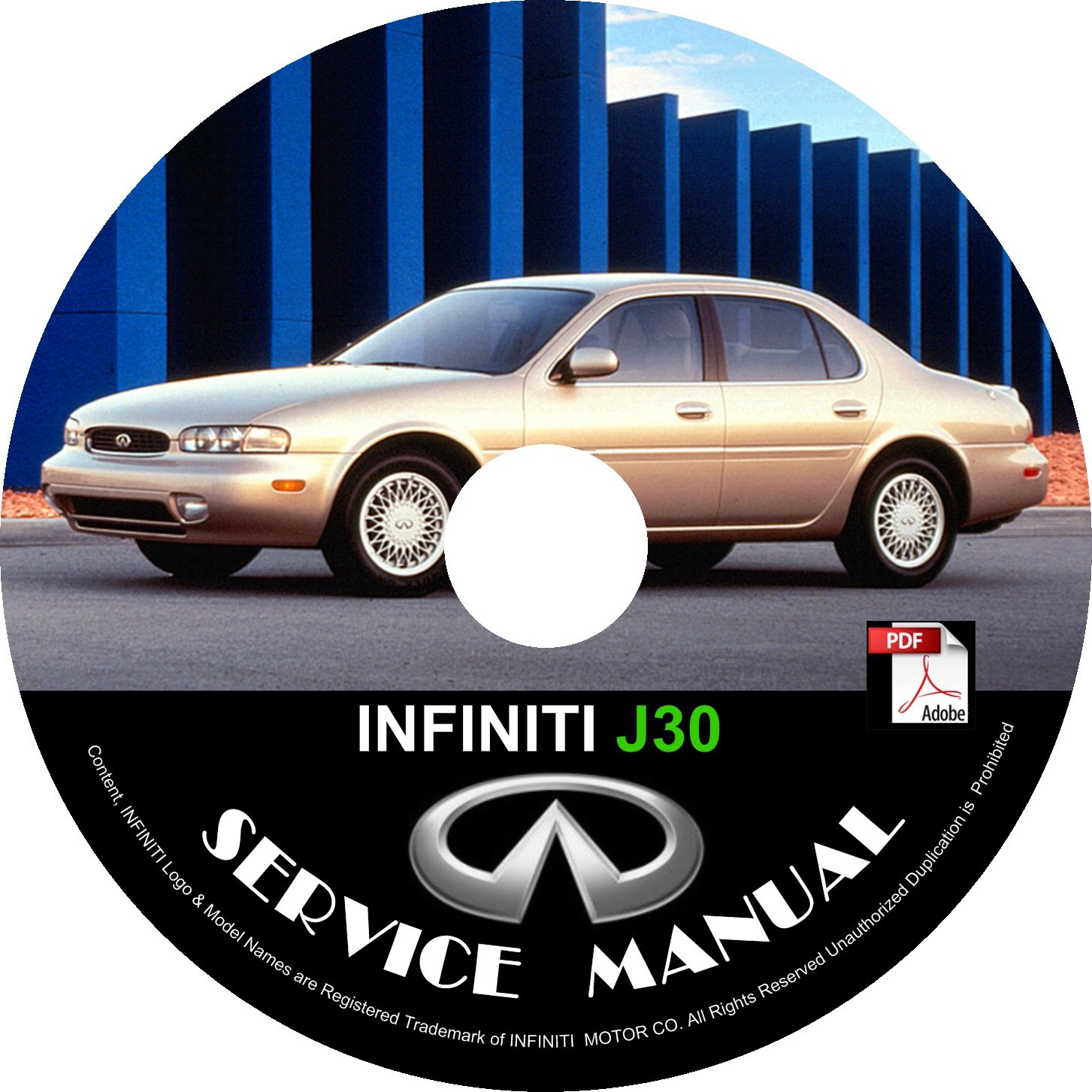 1997 Infiniti J Exterior: 1997 Infiniti J30 Service Repair Shop Manual On CD Factory
