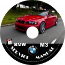 BMW 2003 M3 e46 3-Series Service Repair Shop Manual on CD Fix Repair Rebuild '03 Workshop Guide