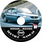 2002 Nissan Maxima Service Repair Shop Manual on CD Fix Repair Rebuild 02 Workshop Guide