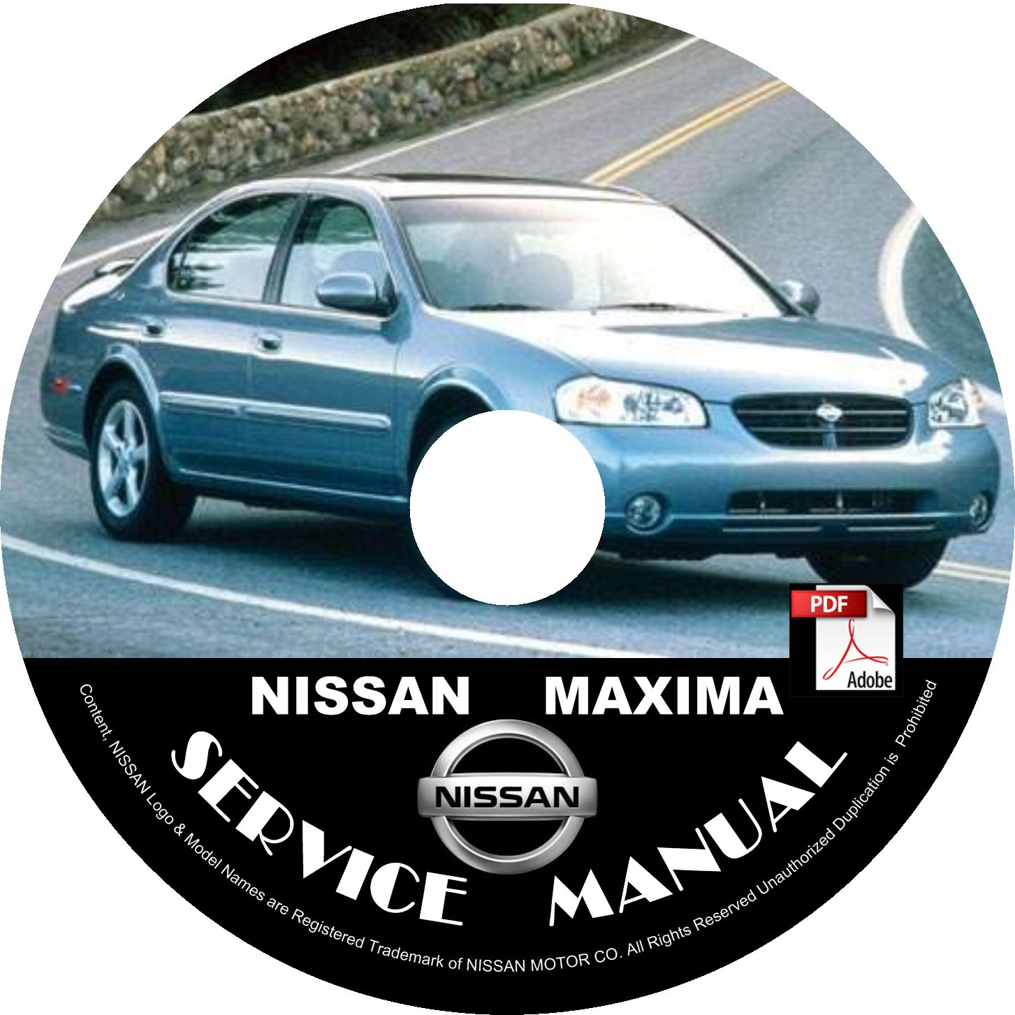 2003 Nissan Maxima Service Repair Shop Manual on CD Fix Repair Rebuild 03 Workshop Guide