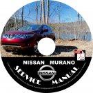 2009 Nissan Murano Service Repair Shop Manual on CD Fix Repair Rebuild '09 Workshop Guide
