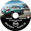 2011 Nissan Murano CrossCabriolet Convertible Service Repair Shop Manual on CD Fix Rebuild Workshop