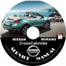 2012 Nissan Murano CrossCabriolet Convertible Service Repair Shop Manual on CD Fix Rebuild Workshop