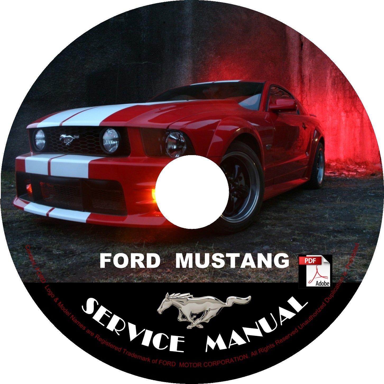2008 Ford Mustang Factory Service Repair Shop Manual on CD Fix Repair Rebuilt 08 Workshop Guide