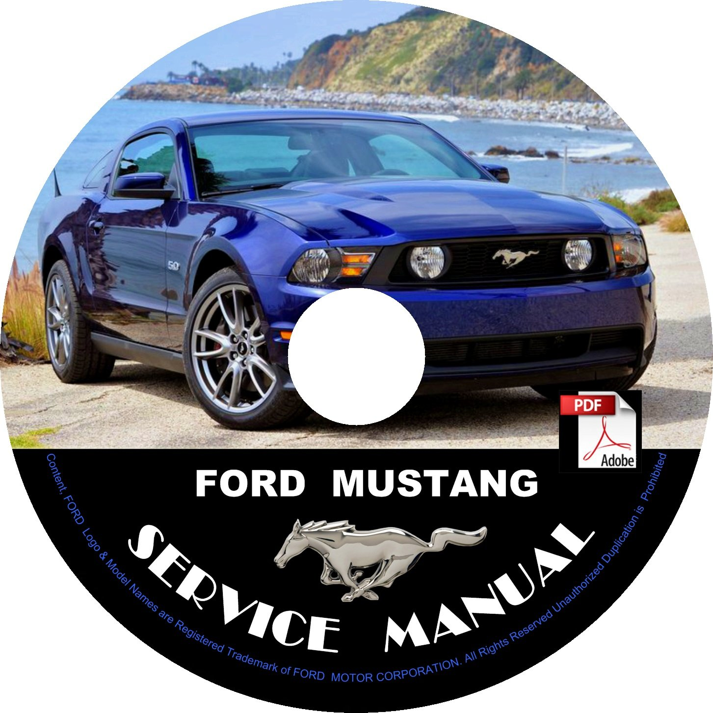 ford mustang factory service repair shop manual  cd