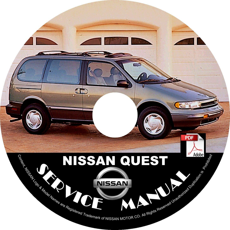 1994 Nissan Quest Minivan Factory Service Repair Shop Manual on CD Fix Rebuilt