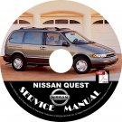 1995 Nissan Quest Minivan Factory Service Repair Shop Manual on CD Fix Rebuilt