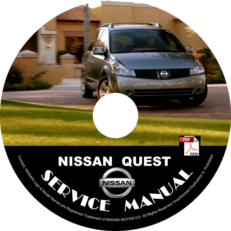 2004 Nissan Quest Minivan Factory Service Repair Shop Manual on CD Fix Rebuilt