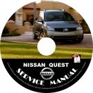 2006 Nissan Quest Minivan Factory Service Repair Shop Manual on CD Fix Rebuilt