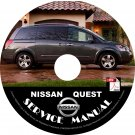2009 Nissan Quest Minivan Factory Service Repair Shop Manual on CD Fix Rebuilt