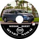 2011 Nissan Quest Minivan Factory Service Repair Shop Manual on CD Fix Rebuilt