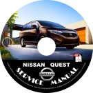 2016 Nissan Quest Minivan Factory Service Repair Shop Manual on CD Fix Rebuilt