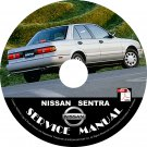 1994 94 Nissan Sentra Factory Service Repair Shop Manual on CD E/SE/XE/GXE/SER R