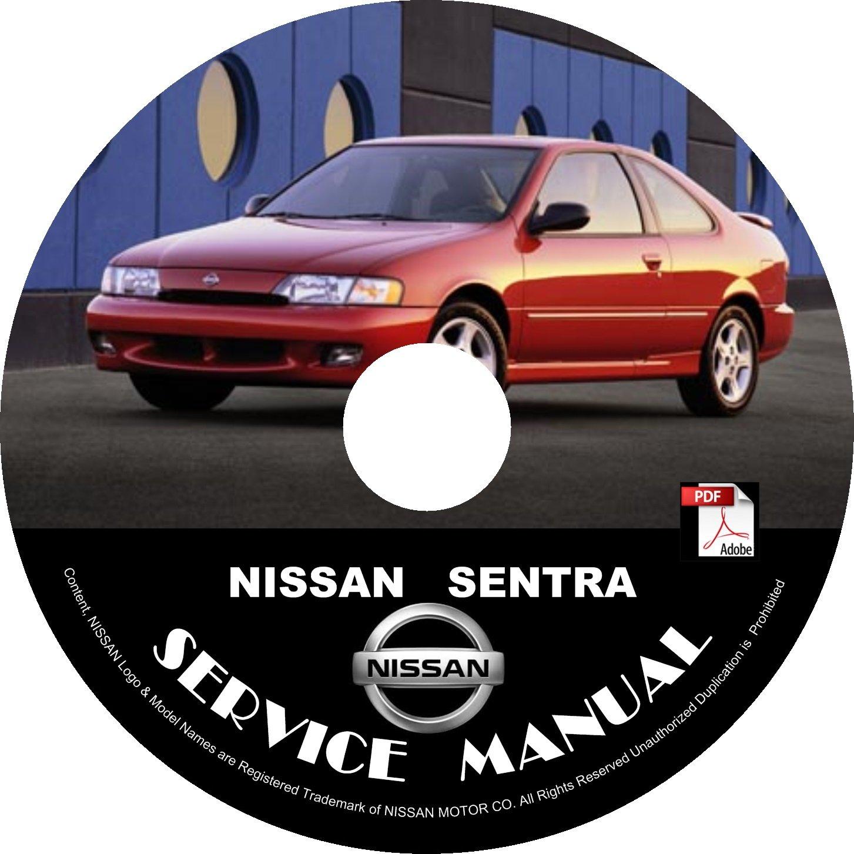1998 Nissan Sentra Maintenance Service Repair Shop Manual on CD Fix Repair Rebuild 98 Workshop Guide