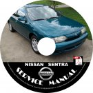 1999 99 Nissan Sentra Factory Service Repair Shop Manual on CD SE XE GXE SER
